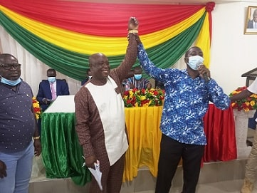 Dr. Isaac Dasmani unanimously received a confirmation from the Assembly Members in the Prestea- Huni Valley